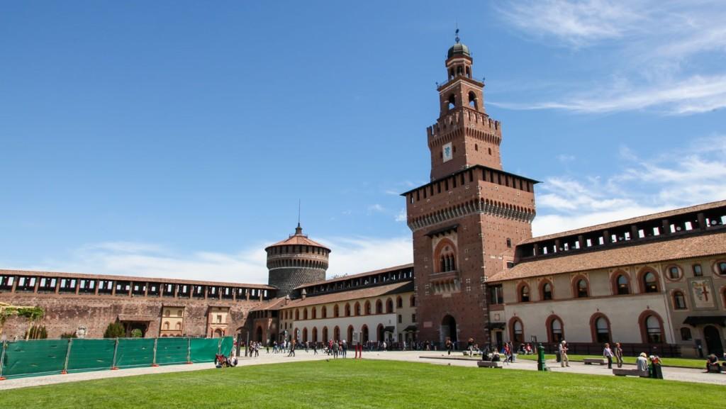 милан, замок, сфорцеско, castello sforzesco, достопримечательности милана